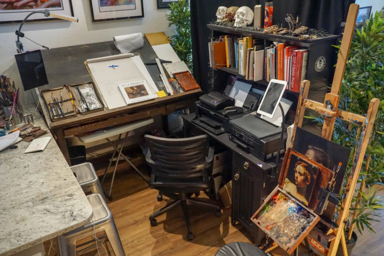 Austin tattoo artist Cory James' art studio